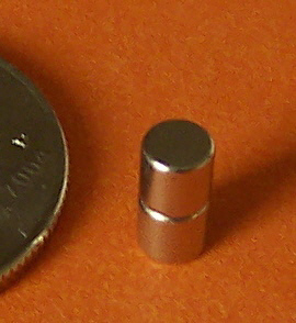 Neodymium Magnets N48 1/8 in x 1/8 in Disc
