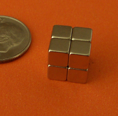 Rare Earth Magnets N42 3/16 inch Strong Neodymium Cubes