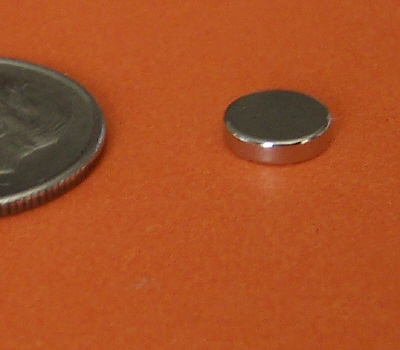 Neodymium Bottle Cap Magnets 1/4 in x 1/10 in Rare Earth N42