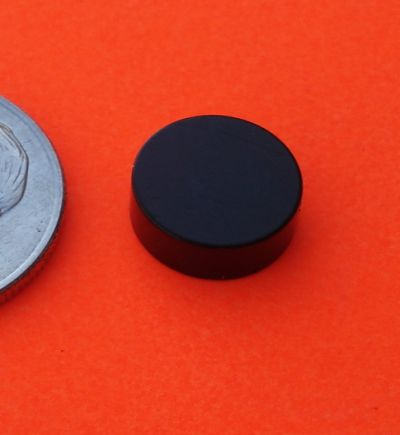 N45 Neodymium Magnets Epoxy+Cu+Ni 3/8 in x 1/10 in Disk