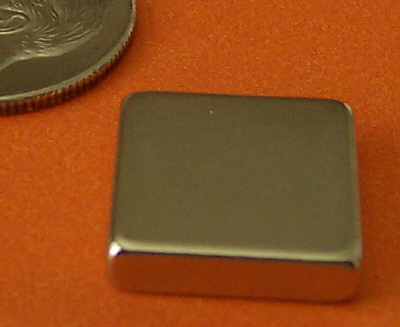 Rare Earth Magnets N45 1/2 in x 1/2 in x 1/8 in Neodymium Block