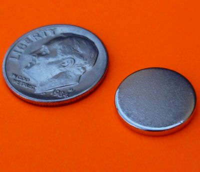 Neodymium Magnets 1/2 in x 1/16 in N42 Bottle Cap Rare Earth Disc