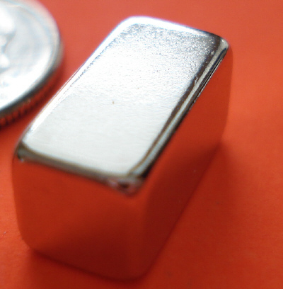 Rare Earth Magnets 1/2 in x 1/4 in x 1/4 in Neodymium Block NdFeB N42