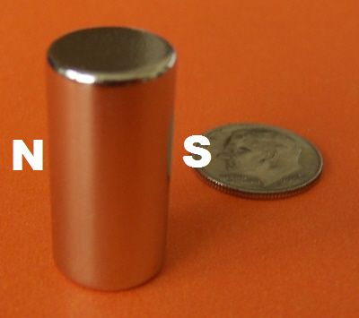 Neodymium Magnets 1/2 in x 1 in Diametrically Magnetized Cylinder