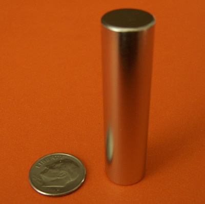 N48 Neodymium Magnets 1/2 in x 2 in Strong Cylinder