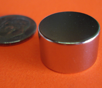 Rare Earth Magnets 5/8 in x 3/8 in Disc Neodymium N42