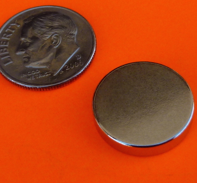 Rare Earth Magnets 5/8 in x 1/8 in Neodymium Disc N42