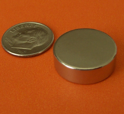Neodymium Magnets Disc 3/4 in x 1/4 in Strong N42