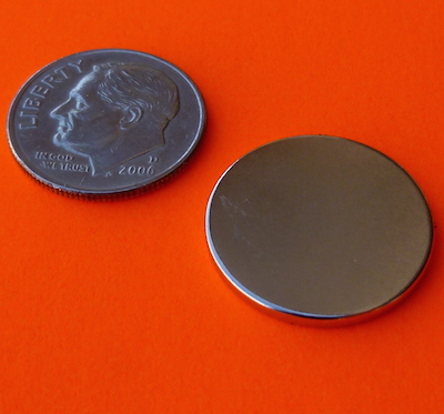 Rare Earth Magnets 3/4 in x 1/16 in Neodymium Disk N42