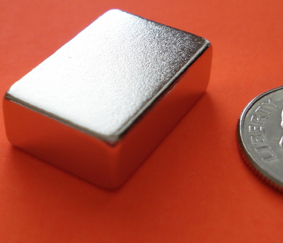 N48 Neodymium Block Magnets 3/4 in x 1/2 in x 1/4 in