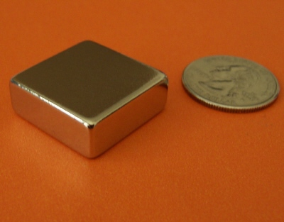 Rare Earth Magnets 3/4 in x 3/4 in x 1/4 in Neodymium Magnet N42