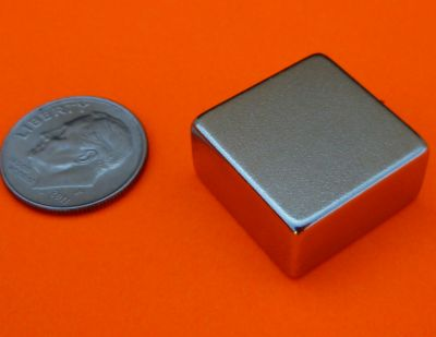 Neodymium Magnet 3/4 in X 3/4 in X 3/8 in N42 Rare Earth blocks