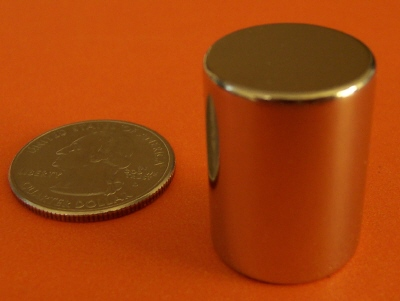 N52 Rare Earth Magnets 3/4 in x 1 in Neodymium Cylinder
