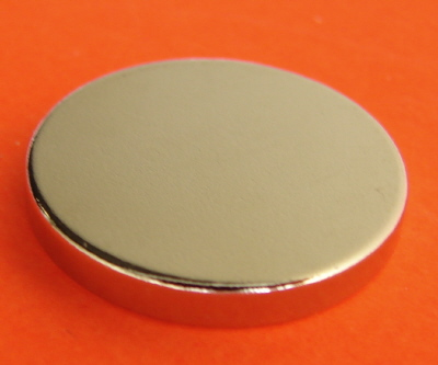 Rare Earth Magnets N45 3/4 in x 1/10 in Neodymium Disk
