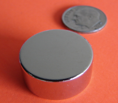Rare Earth Magnets 7/8 in x 3/8 in Neodymium Disc N42