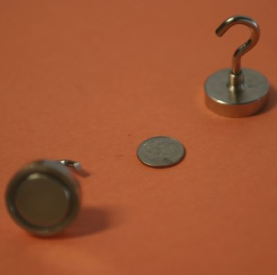 Magnetic Hooks 1.25 inch w/Neodymium Magnets