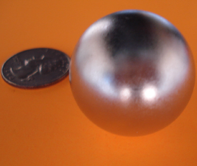 Super Strong N52 neodymium 1.26 inch Diameter Sphere Magnets