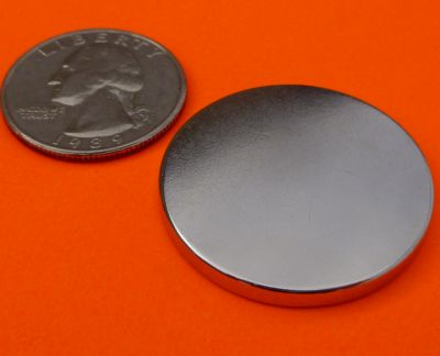 Rare Earth Neodymium Magnets 1.26 in x 1/8 in Disc N42