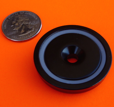 Epoxy+Ni Coated Strong Neodymium Cup Magnets 1.5 inch Holder 120lbs