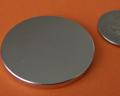 Super Strong N52 Neodymium Magnets 1.5 in x 1/8 in Disc