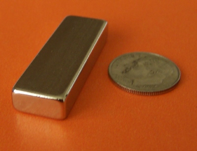 Neodymium Magnets Block N45 1.5 in x 1/2 in x 1/4 in