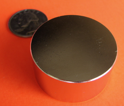 Neodymium Magnets N45 1.5 in x 3/4 in Rare Earth Disc