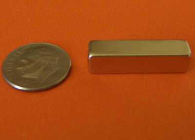 Neodymium Magnets 3/4 in x 1/4 in x 1/4 in Block