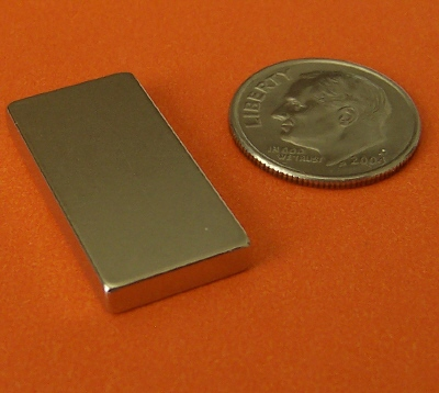 Neodymium Magnets N45 Block 1 in x 1/2 in x 1/8 in