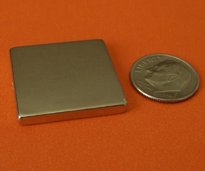 Rare Earth Magnets 1 in x 1 in x 1/8 in Neodymium Block N42