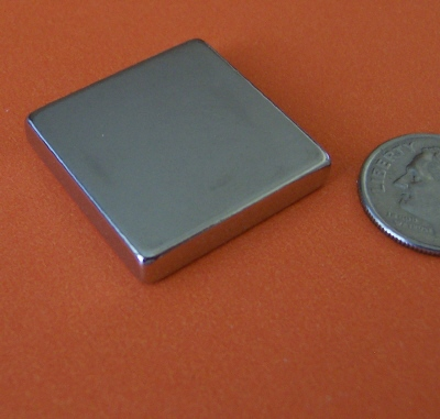 Rare Earth Magnets 1 in x 1 in x 3/16 in N42 Neodymium Block