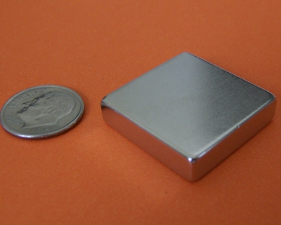 Neodymium Block Magnets 1 in x 1 in x 1/4 in NdFeB N42