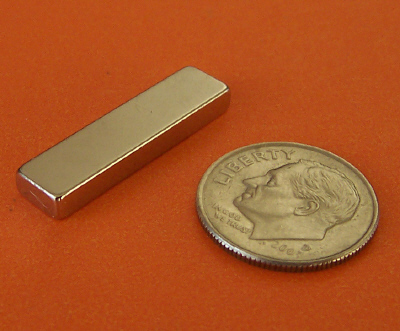 Neodymium Rare Earth Magnets N42 Bar 1 in x 1/4 in x 1/8 in