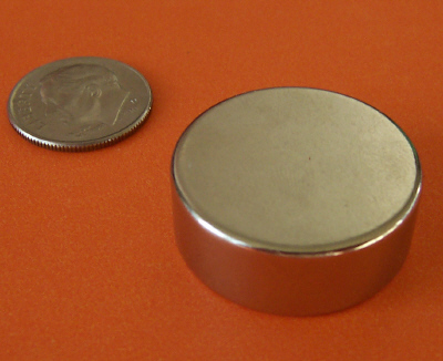 Rare Earth Magnets N42 1 in x 3/8 in Neodymium Disc