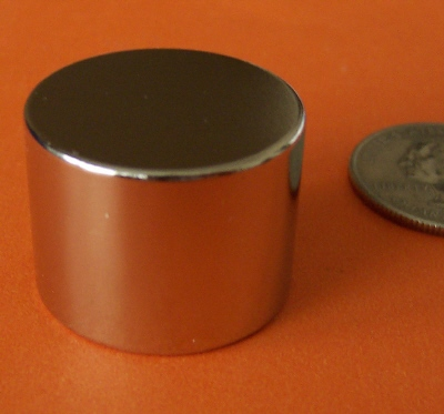 Neodymium Magnets 1 in x 3/4 in Rare Earth Disc N42