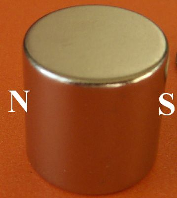Neodymium Super Magnets 1 in x 1 in Diametrically Magnetized Cylinder