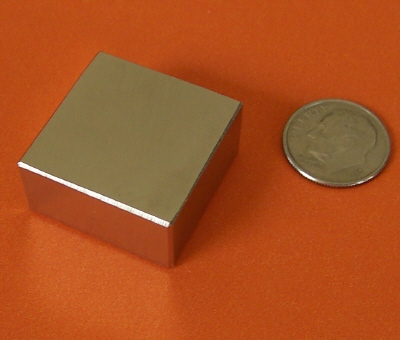 Rare Earth Magnets 1 in x 1 in x 1/2 in Neodymium Block N42