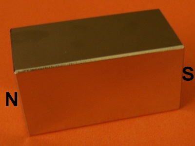 Neodymium Magnets N42 Block 1 in x 1 in x 2 in