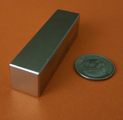 Rare Earth Neodymium Magnets N48 2 in x 1/2 in x 1/2 in Block