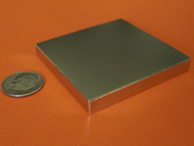 Neodymium Magnets 2 in x 2 in x 1/4 in Block Powerful N42