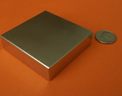 Rare Earth Magnets 2 in x 2 in x 1/2 in Strong Neodymium Block N42