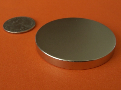 Neodymium Magnets N48 2 in x 1/4 in Disc