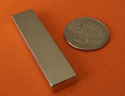 N52 Rare Earth Magnets 2 in x 1/2 in x 1/4 in Neodymium Block