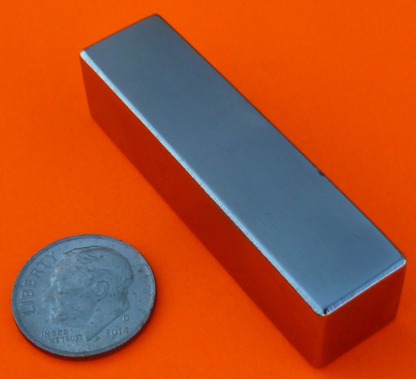 Rare Earth Magnets 2 in x 1/2 in x 1/2 in Neodymium Block