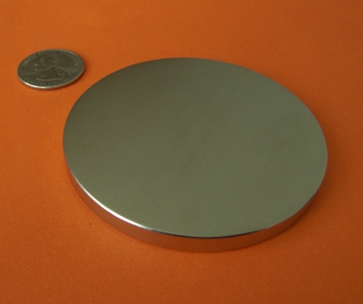 Neodymium Magnets 3 in x 1/4 in Strong Disc N42