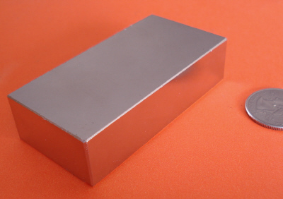 Neodymium Magnets 3 in x 1.5 in x 3/4 in N42 Rare Earth