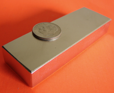 Neodymium Magnets N45 Block 3 in x 1 in x 1/2 in