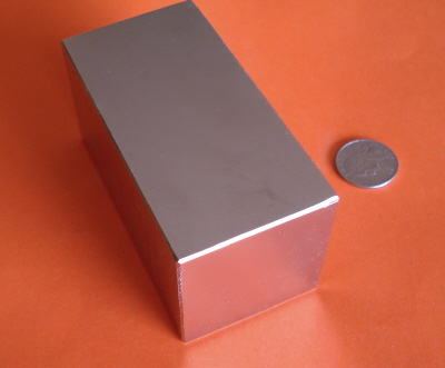 Strong Magnets 3 in x 2 in x 2 in Neodymium Rare Earth Block N42