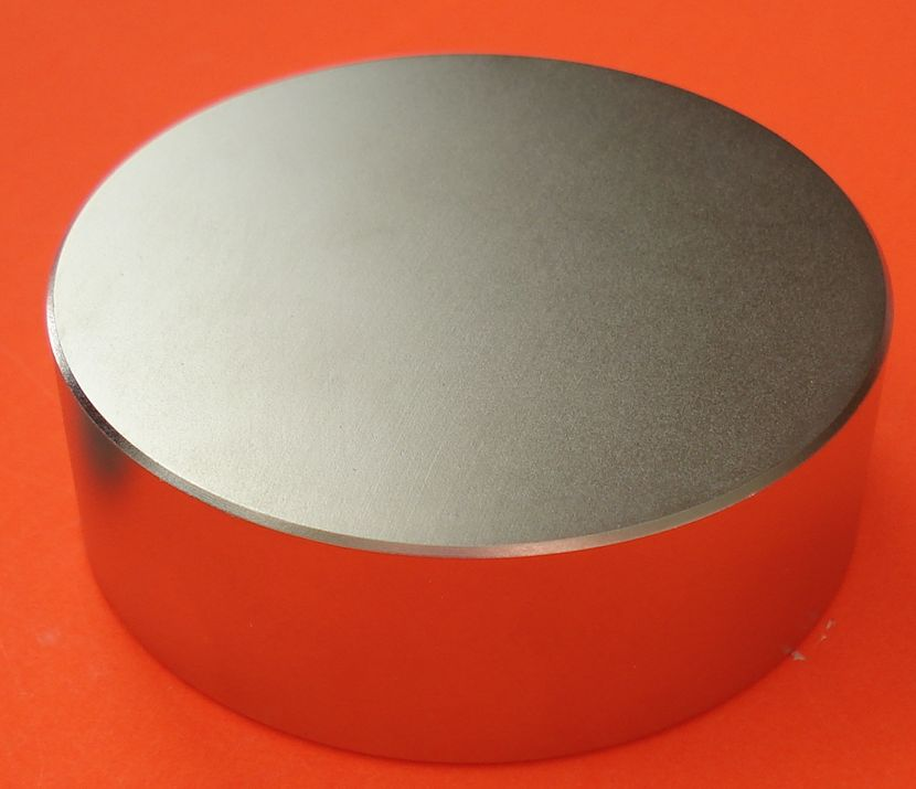 Strong Neodymium Magnets N45 6 in x 2 in - Industrial Disk Magnets