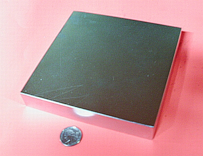 Strong Industrial Magnets 6 in x 6 in x 1 in Neodymium Magnet Block