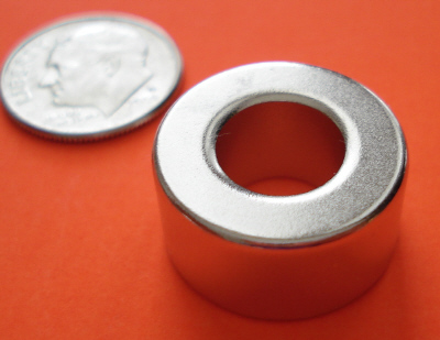 Neodymium Magnets Ring 3/4 in OD x 3/8 in ID x 3/8 in Rare Earth